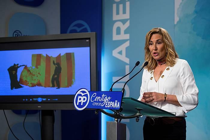 Ana Beltran Nafarroako PPko presidentea, Genovan, Madrilen ©Rodrigo Jimenez / Efe