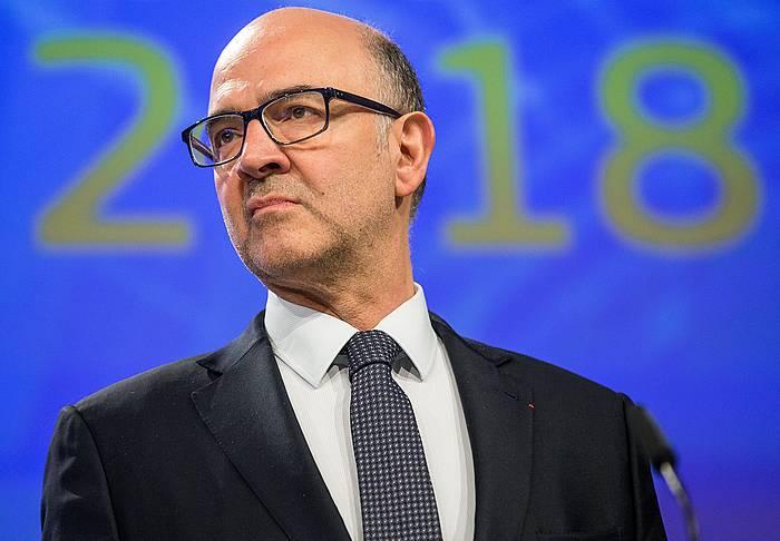 Pierre Moscovici EBko Ekonomia eta Finantza komisarioa, joan den astean egindako agerraldi batean.