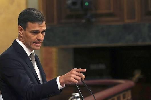Sanchez kongresuan, bere programa defendatzen