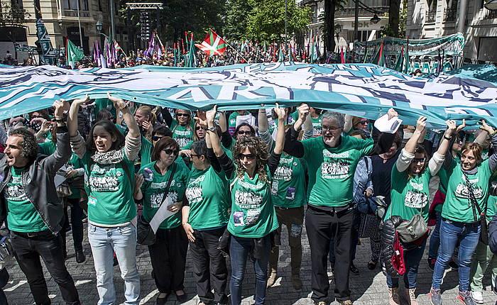 ELA sindikatuaren manifestazio bat, Bilbon. ©MARISOL RAMIREZ / FOKU