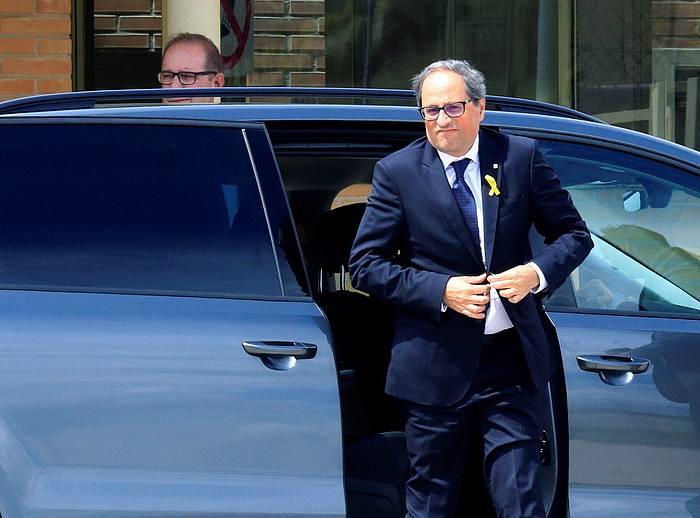 Quim Torra Kataluniako presidentea, artxiboko irudi batean. /