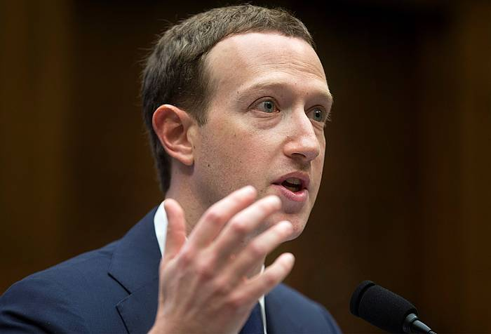 Mark Zuckerberg, apirilean, AEBetako Kongresuan. /