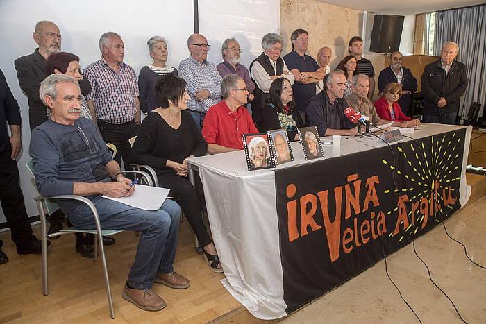 Iruña-Veleia Argitu ekimenaren agiriaren aurkezpena, goizean. /