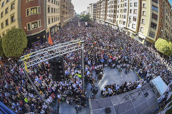 Altsasukoen aldeko manifestazioa, amaierako ekitaldian.