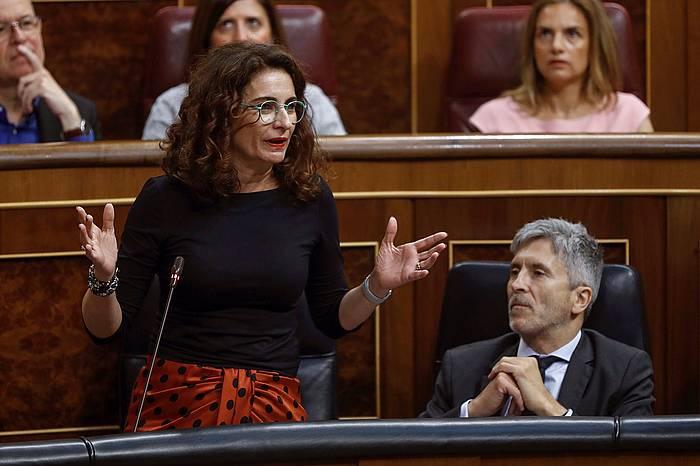 Maria Jesus Montero gaur Diputatuen Kongresuan.