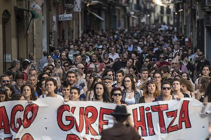 Libre utziko dituzte Iruñeko talde bortxaketaren egileak