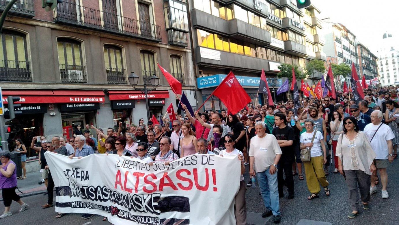 Madrilgo manifestazioaren une bat. ©@AltsasuGurasoak