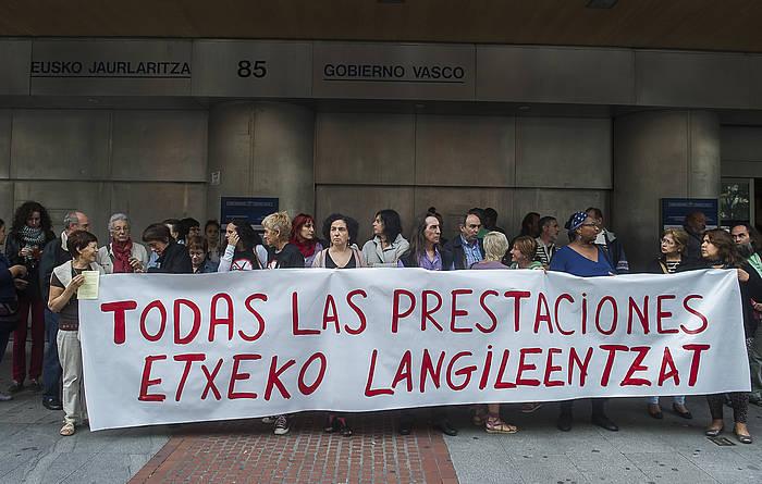 Etxeko langileen protesta bat, artxiboko irudian ©Luis Jauregialtzo / Foku