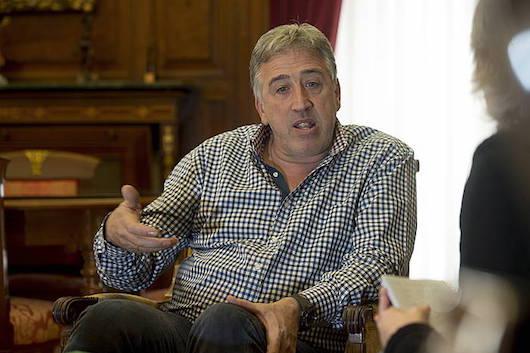 Joseba Asiron, artxiboko irudi batean.