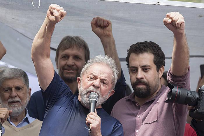 Lula, preso sartu aurretik.