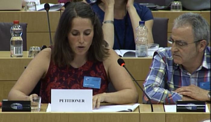 Martxoak 3  Elkarteko Nerea Martinez eta Andoni Txasko, Europako Parlamentuan