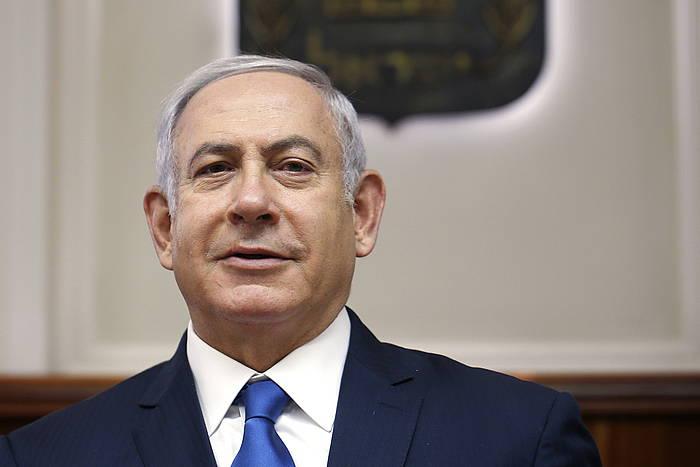 Benjamin Netanyahu, Israelgo lehen ministoa. /