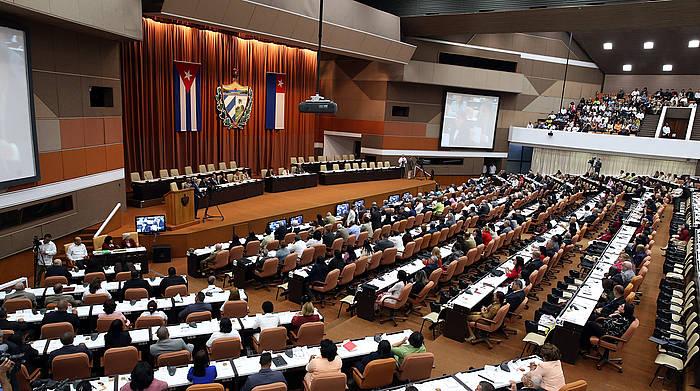 Kubako parlamentua artxiboko irudi batean.