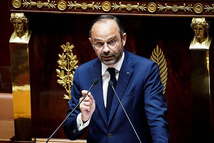 Edouard Philippe Frantziako lehen ministroa Asanblean, gaur. ©EFE