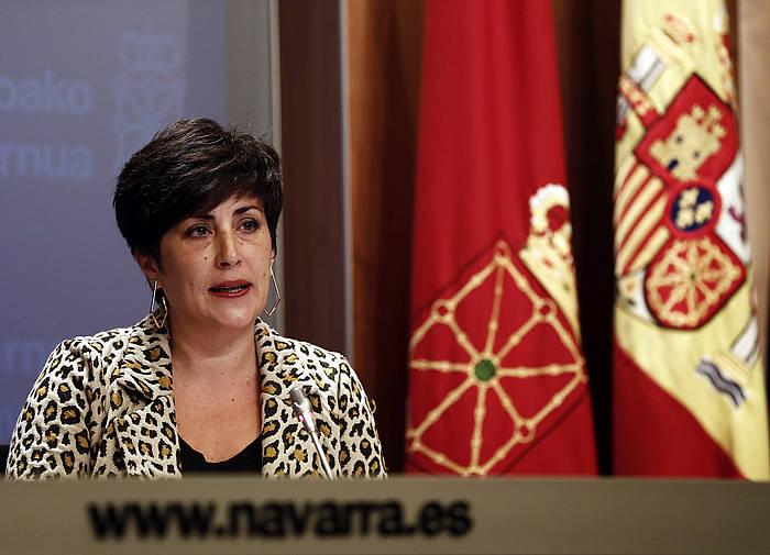 Maria Solana Nafarroako Gobernuko bozeramailea, artxiboko irudi batean. /