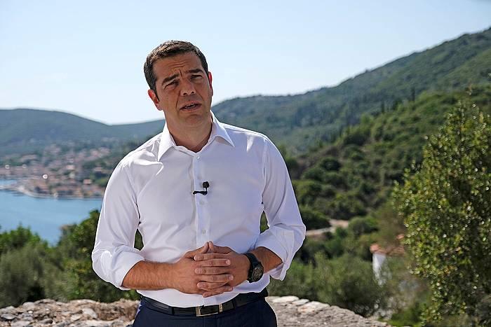 Alexis Tsipras gaur Itakan.