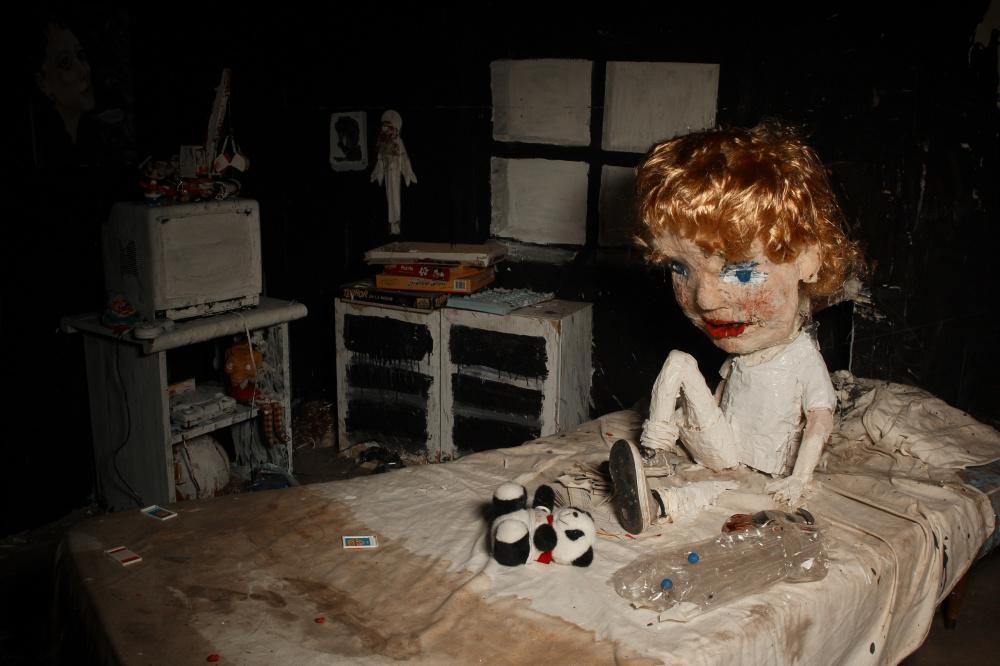 'Stop motion' teknikarekin egindako 'La casa lobo' filmeko fotograma bat.