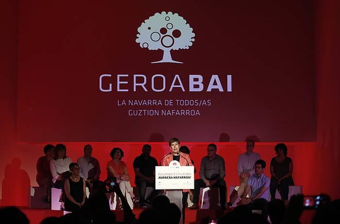 Uxue Barkos, iazko urte politikoaren amaiera ekitaldian.