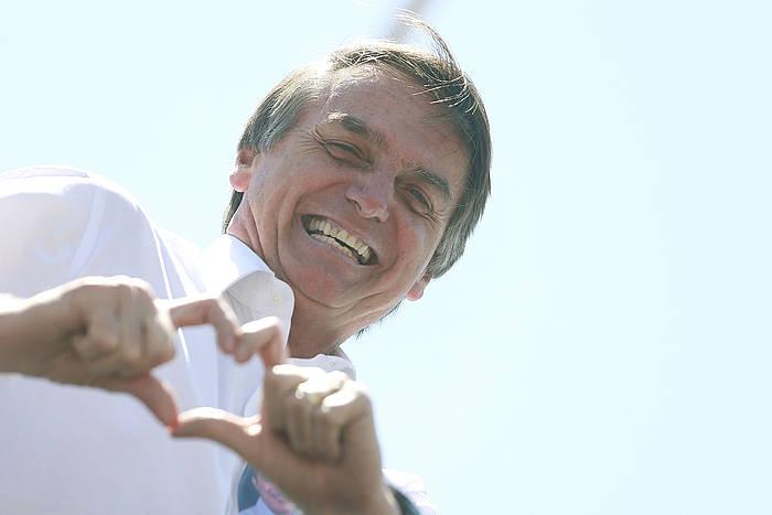 Jair Bolsonaro, astelehenean, Brasilian. /