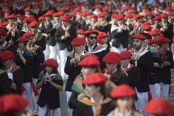 Jaizkibel konpainia, arratsaldeko desfilean. /