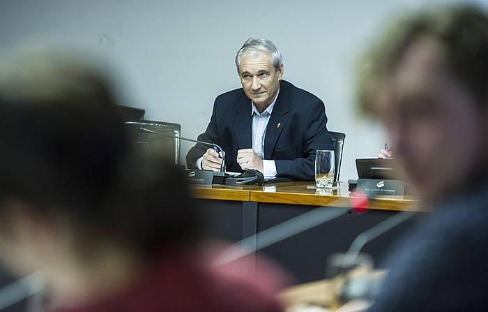 Mikel Aranburu Nafarroako Ogasun kontseilaria, artxiboko irudian.