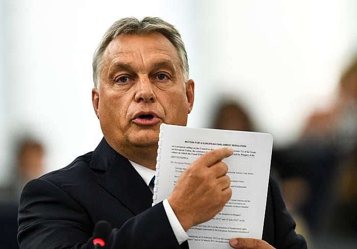 Viktor Orban, Hungariako lehen ministroa.
