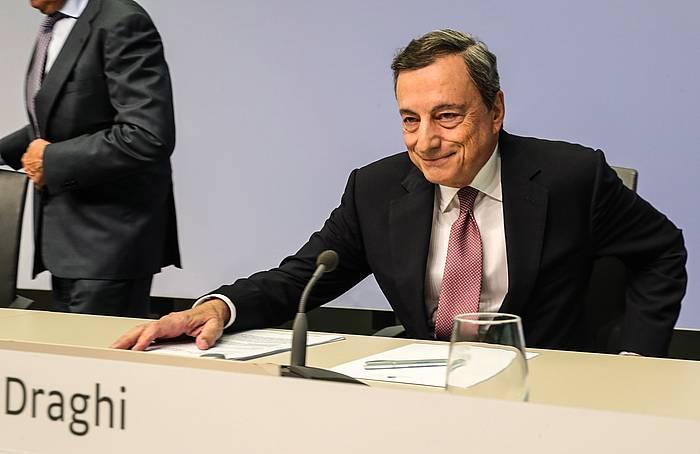 Mario Draghi, agerraldian. / ©ARMANDO BABANI, EFE
