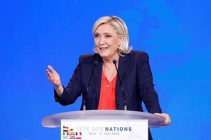 Marine Le Pen Batasun Nazionala eskuin muturreko alderdiko burua. Artxiboko irudia. /