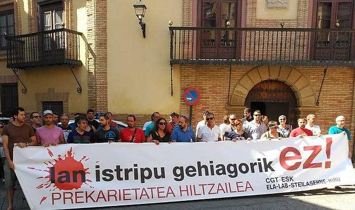 Corellako lan istripuaren aurkako protesta uda hasieran. ©BERRIA