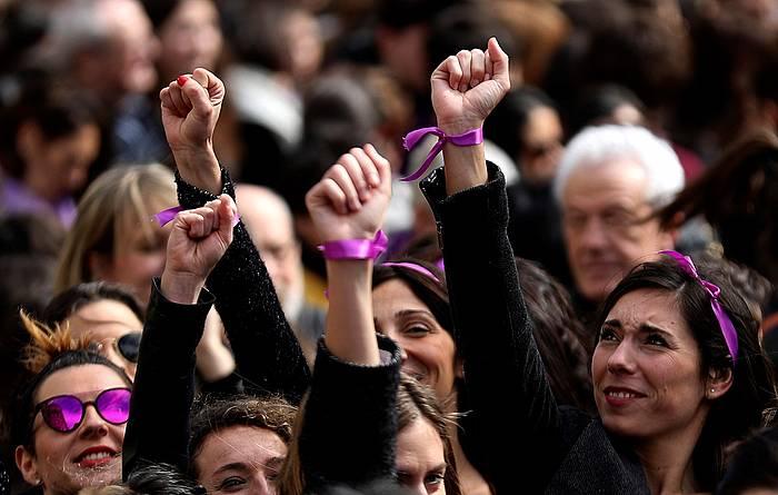 Martxoaren 8ko greban Donostian egindako mobilizazioa.