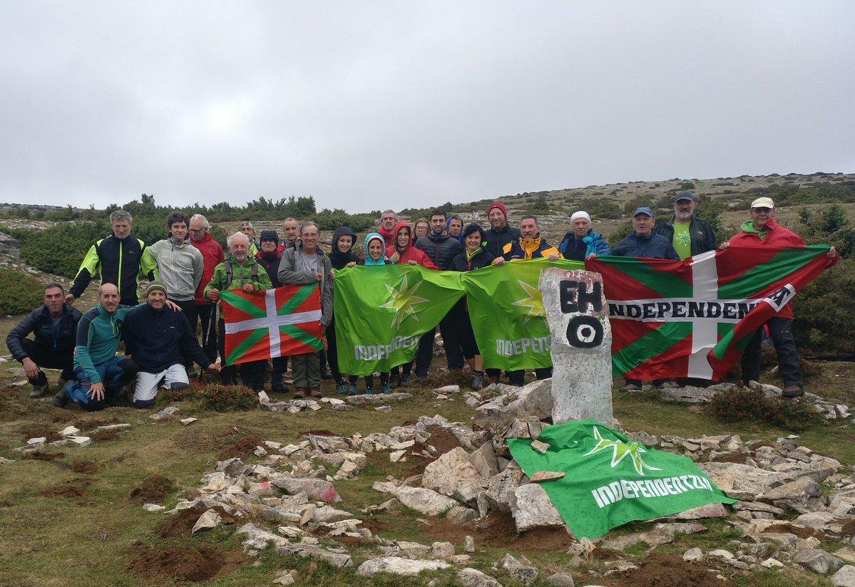 Independentistak sarekoak, gaur, Euskal Herriko erdigune geografikoan.