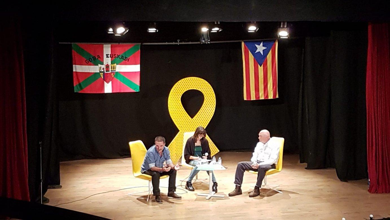 Ariznabarreta, Morales eta Ibarretxe, atzo, Katalunian.