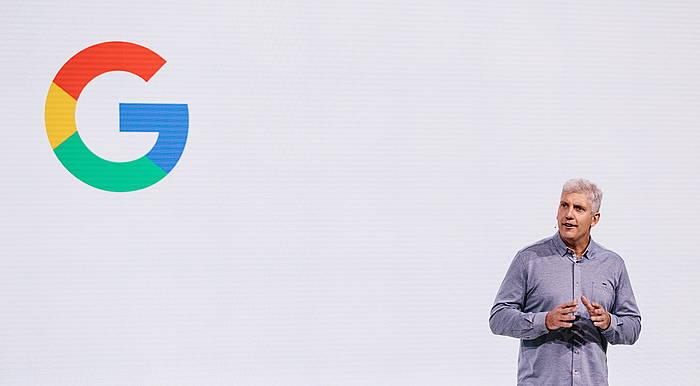 Googleren aurkezpen bat. ©Alba Vigaray / Efe