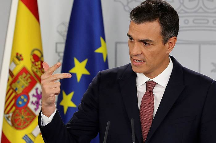 Sanchez, atzo, Madrilen.