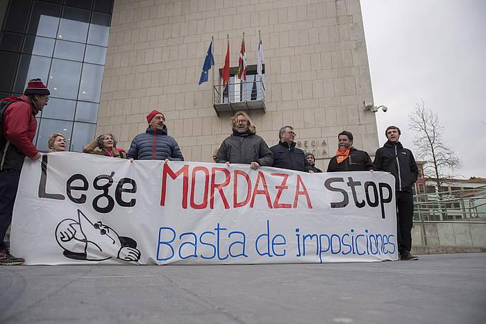 'Mozal Legearen' aurkako proesta bat. /