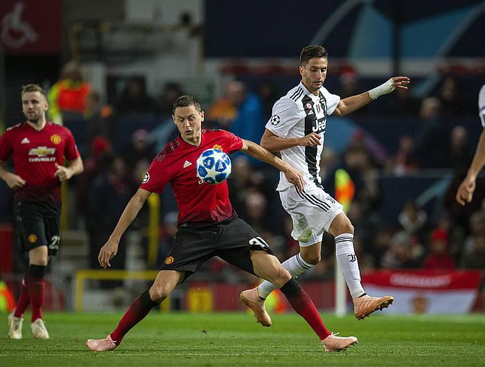Nemanja Matic Manchester Unitedeko erdilari serbiarra, Juventusen aurkako partida batean, urriaren 23an. /