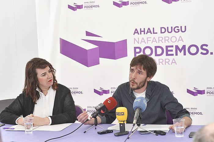 Mikel Buil eta Ainhoa Aznarez, artxiboko irudi batean./