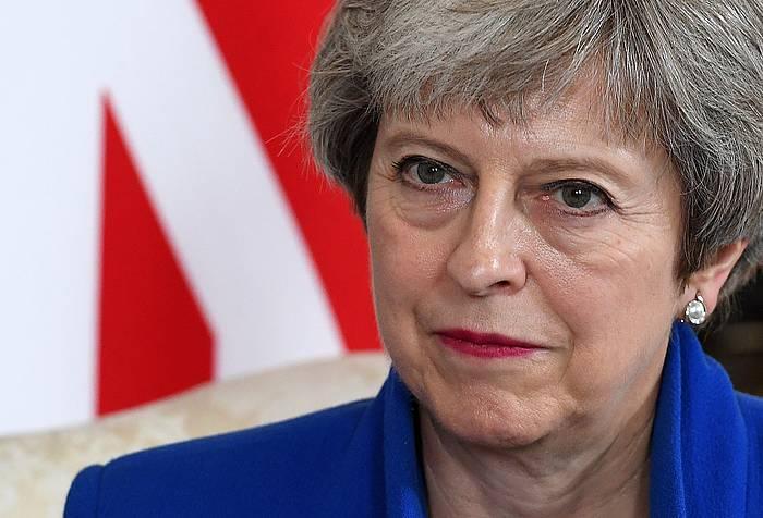 Theresa May Erresuma Batuko lehen ministroa, artxiboko irudi batean