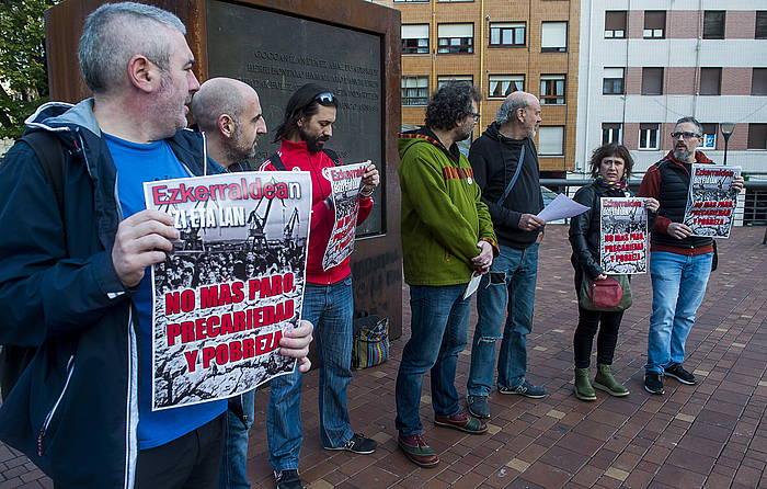 Eragile eta sindikatuek Sestaon egindako agerraldia, gaur. ©Luis Jauregialtzo, Foku