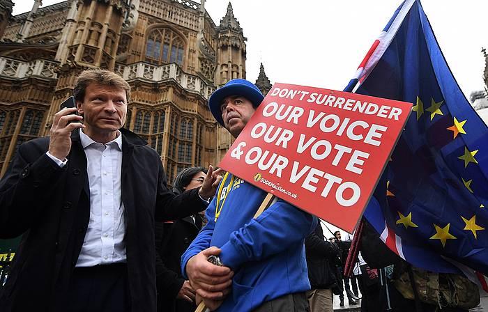 'Brexit-aren aurkakoa, atzo, Londresen.