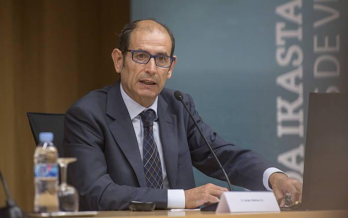 Jorge Aldekoa, artxiboko argazkian. /
