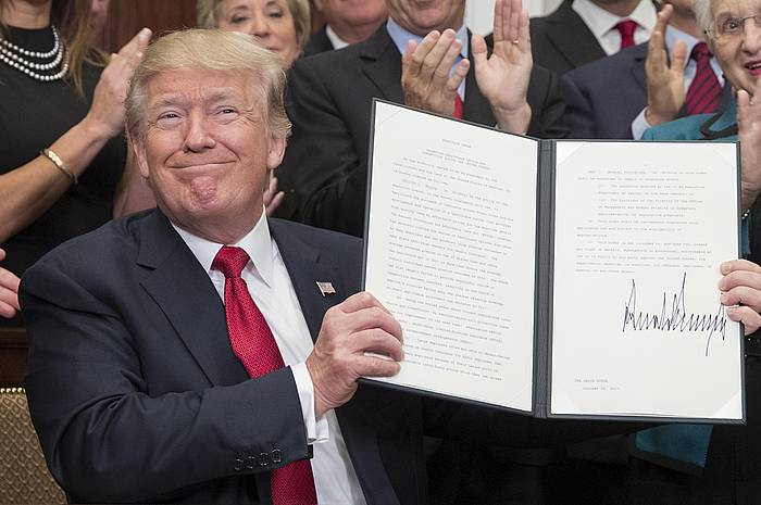 Trump presidentea, artxiboko irudi batean. / ©MIchael Reynolds, EFE