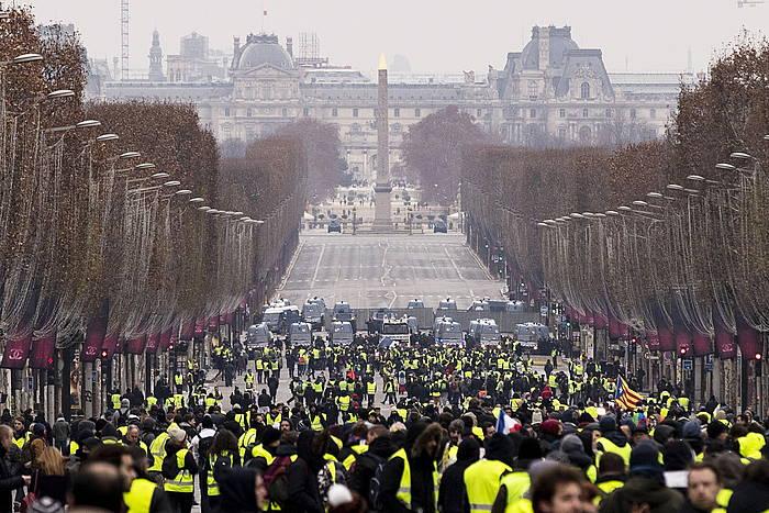 Jaka Horiak Parisen joan den larunbatean.