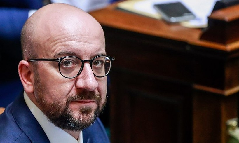 Charles Michel Belgikako lehen ministroa, artxiboko irudi batean. Erregearen kontsulten zain geratu da. ©S. LECOCQ / EFE