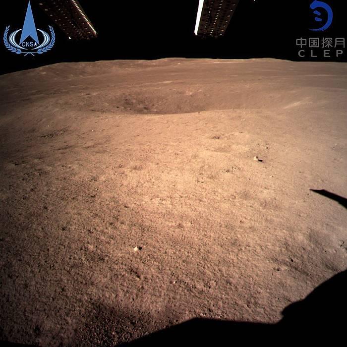 Chang'e 4 espazio zundak Ilargiaren aurpegi ezkututik bidali duen lehen irudia.