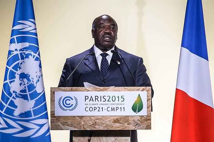 Ali Bongo Ondimba Gabondar Errepublikako presidentea, artxiboko argazkian