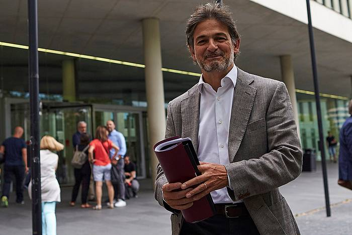 Jordi Pujol CiUko diputatu ohia, artxiboko argazki batean.
