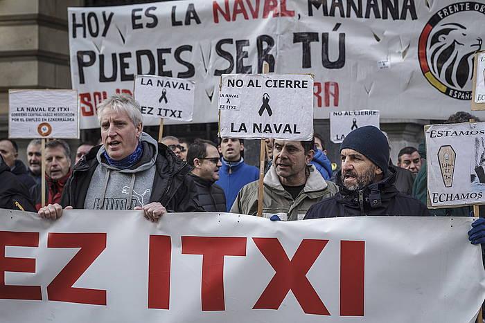 Navaleko langileen protesta bat, Bilbon. ©ARITZ LOIOLA / FOKU