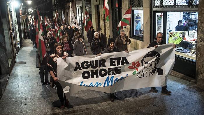 Gaur Hernanin (Gipuzkoa) egindako manifestazioa.