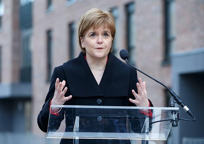 Nicola Sturgeon Eskoziako lehen ministroa, artxiboko irudi batean. ©ROBERT PERRY, EFE